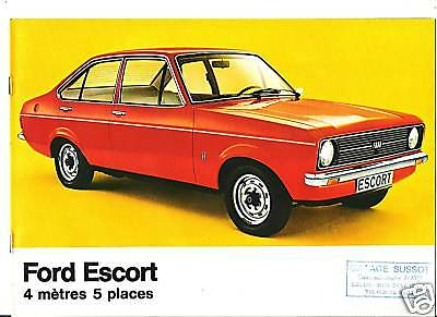 FORD ESCORT - 1977 / catalogue brochure prospekt dépliant catalog prospectus