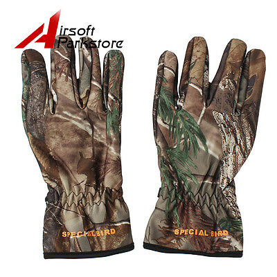 Outdoor sports Spring&Winter Full Finger Gloves Bionic Camouflage Hunting Gloves
