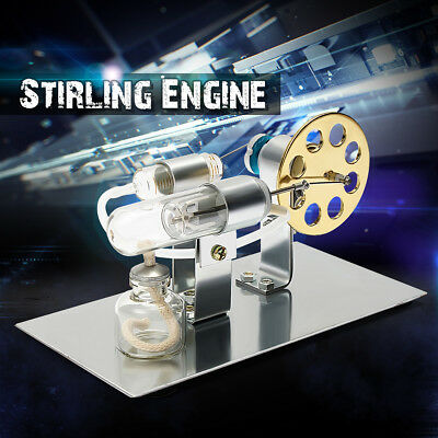 Hot Air Stirling Engine Model Electric Generator Motor Physics Steam Power Toy
