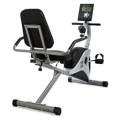 Home Gym Fitness Bike Excercise Machine Pulse  Calorie Monitor Grey  *free P&p*