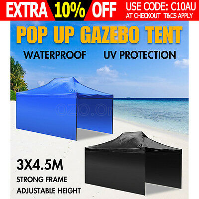 3x4.5M Outdoor Gazebo Folding Marquee Tent Canopy Shade Pop Up Party Stall NEW