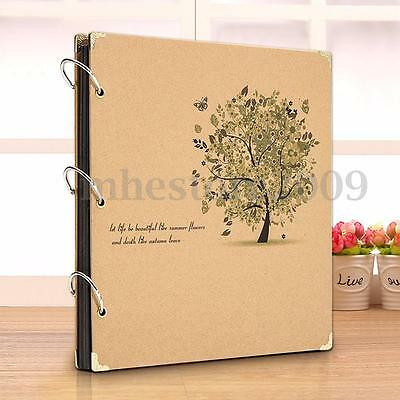 Retro Kraft Photo Picture Album DIY Travel Baby Mommy Book Wedding Gift Handmade