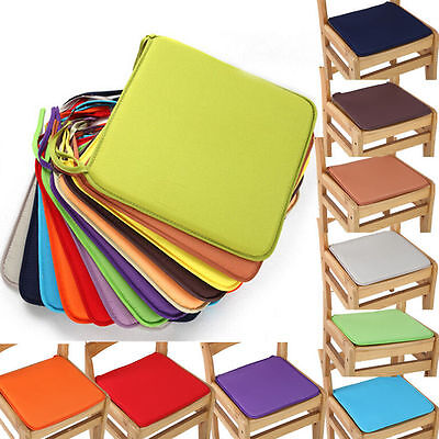 Tie On Chair Cushion Kitchen Home Dining Garden Patio Office Square Seat Pads