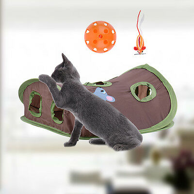 Pet Cat House Tunnel Toys Multi-holes Funny Holes Kitten Pet Mouse Hunt Cat Toys