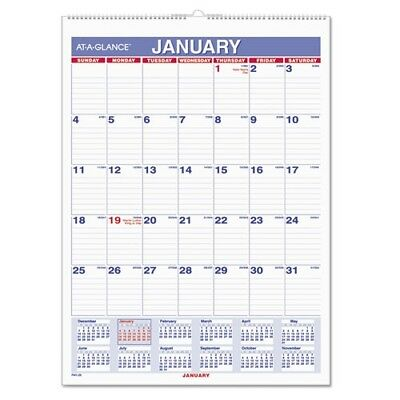 At-A-Glance 2018 Monthly Wall Calendar - PM128