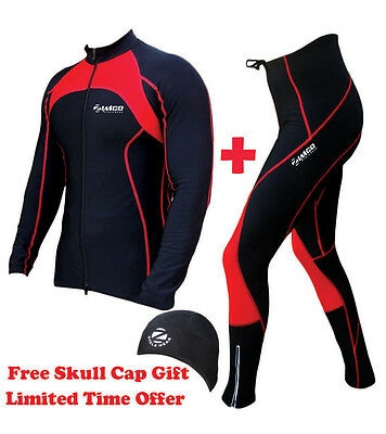 Zimco Pro Winter Cycling Super Roubiax Padded Tight/Pant & Jersey/Jacket Red