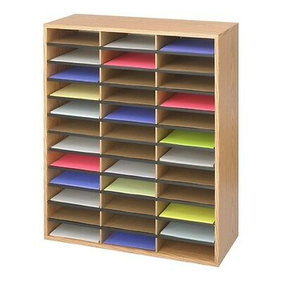Safco Wood/Corrugated Literature Organizer - 9403MO