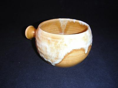 Drip Glazed IRISH YOUGHAL POTTERY SOUP BOWL with HANDLE Cork Studio Ireland