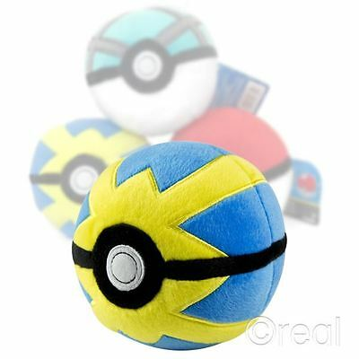 """New Pokemon Quick Ball 5"""" Plush Toy Cosplay TOMY Official"""