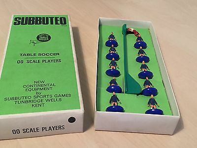 Boxed Subbuteo HW Chelsea Team - All Blue - Painted ? - VGC