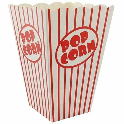 Movie Cinema Popcorn Boxes Hollywood Party Bags Red White Stripes Treat Sweet
