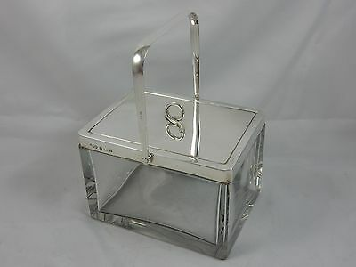 EXTREMELY RARE, HUKIN & HEATH, silver & glass BISCUIT BOX, 1928