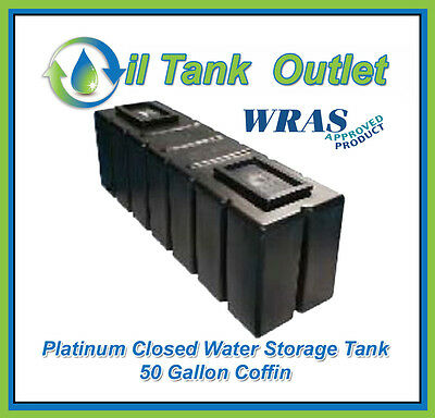 Closed  Water Storage Tank 50 Gallon Coffin  - WRAS Approved