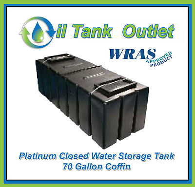 Closed  Water Storage Tank 70 Gallon Coffin  - WRAS Approved