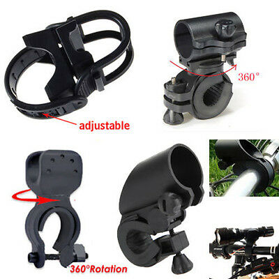 Bike Bicycle Cycle Light Front CREE Torch LED Flashlight Mount Bracket Holder