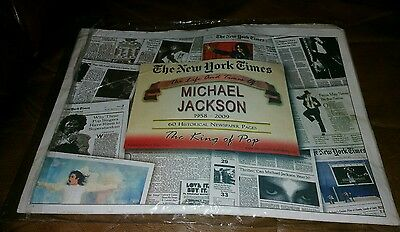 The New York Times The Life and Times of Michael Jackson Historical Newspaper