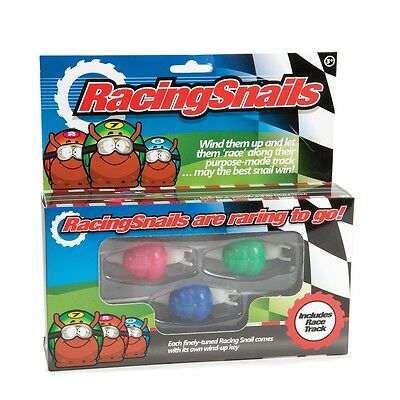 Racing Snails Set Of 3 With Race Track