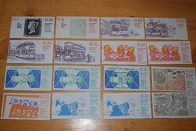 Weeda Great Britain QEII Decimal booklets, 16 different, FL1B//FL13B CV ₤114.50