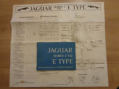Jaguar E Type Series 3 V12 Roadster and Coupe Owners Handbook/Manual