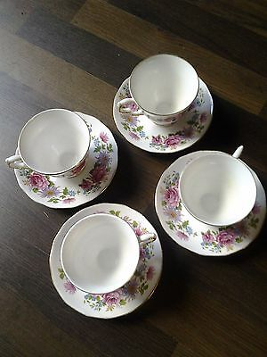 Seranade Queen Anne bone china 8597 cup and saucer set