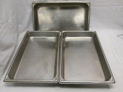 "3 SYSCOWARE Commercial Kitchen Steamtable Hotel Pans Full Size 2-1/2"" Chafers"
