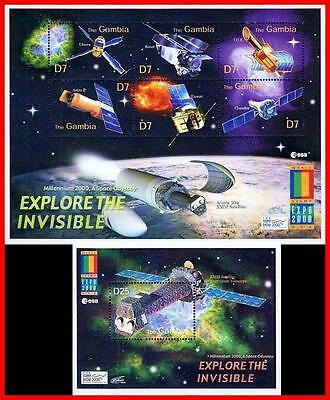 Gambia = Expo 2000 S/s + M/s Mnh **  Space & Astronomy, X-Ray Satellite