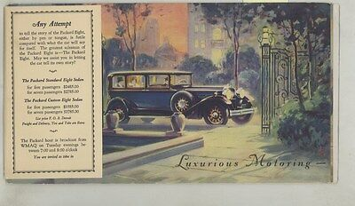 1929 Packard Sedan Moveable Brochure ww4341