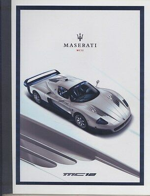 2004 Maserati MC12 Supercar Prestige Brochure English Italian ww4343