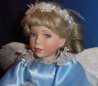 Paradise Galleries, Vintage Porcelain Doll ( Angel of Peace  ) Limited COA
