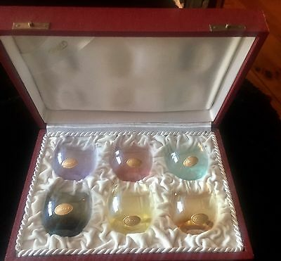 Moser Set Of 6 Multi. Coloured Shot Glasses New In Box