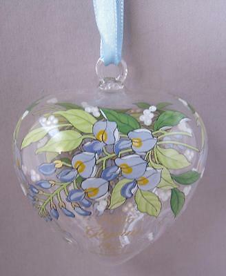 Hutschenreuther Germany WISTERIA Crystal Spring Heart Ornament Flower