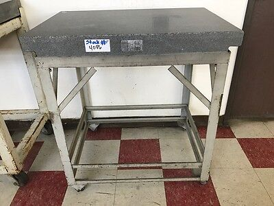 """36""""L x 24""""W x 5""""THK GRANITE SURFACE PLATE WITH STAND"""