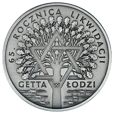 2009 - 65th Anniversary of the Liquidation of the Lodz Ghetto Silver Proof 20zl