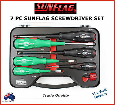 Sunflag Screwdriver Set Professional Quality Best There Is! Made In Japan