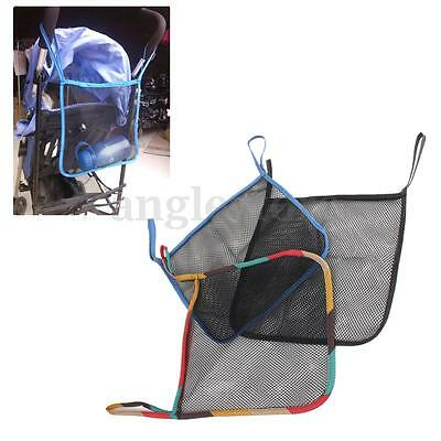 Baby Infant Pushchair Stroller Hanging Mesh Net Storage Bottle Organizer Bag