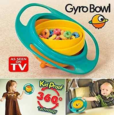 Gyro Bowl- Spill Resistant Kids Gyroscopic Bowl with Lid