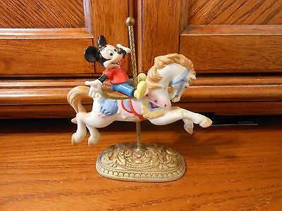 Mickey Mouse Miniature Carousel Horse Stand in Excellent Condition