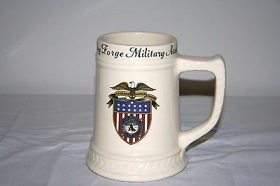Valley Forge Military Academy Stein Mug Cup Imperial #6 White Cream Glass
