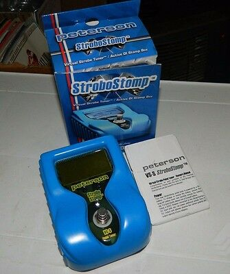 Peterson VS-S Strobostomp Digital Strobe Pedal Tuner Guitar COMPLETE