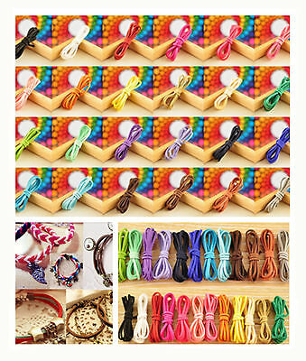 Hot wholesale10m(1m=1strip) 3mm Leather Suede Thread Making Cords String Jewelry
