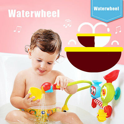 Bath Toys Water Faucet Taps Automatic Spout Spray Shower For Kids Baby