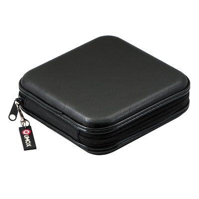 Qumox CD-Case 40x CD BluRay Wallet CD-Case Storage Hard Case Black