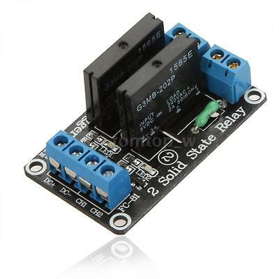 5V 2 Channel Low Level Trigger Solid State Relay Module SSR Board With Fuse G8A0