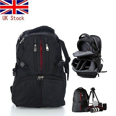 LARGE DSLR SLR Camera Waterproof Backpack Rucksack Bag Case For Nikon Sony Canon