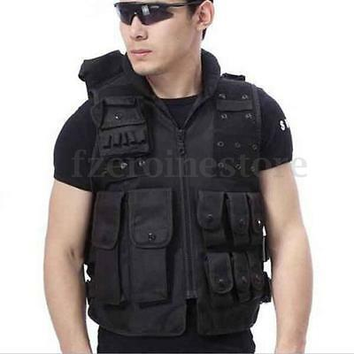Airsoft Molle Paintball Wargame Tactical Outdoor Combat Assault Army Vest Black