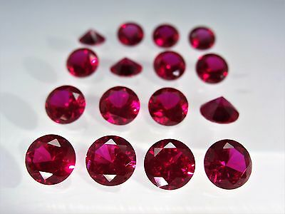 Red Ruby Round Brilliant Cut SIZE CHOICE Loose Stones Corundum Gemstones