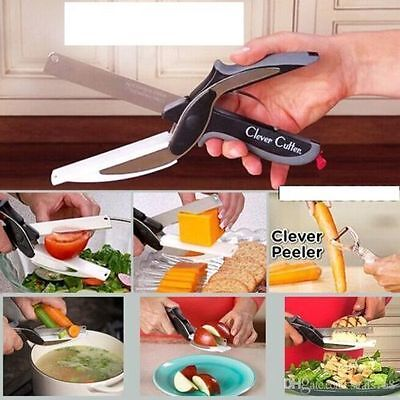 Clever Cutter 2-in-1 Knife & Cutting Board Scissors As Seen On TV - UK POST FREE