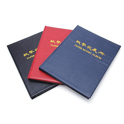 60 Paper Money Note Holders Collection Album Book Collecting Storage Pockets New