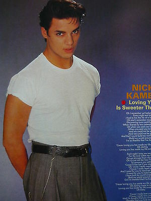Nick Kamen - Magazine Cutting (Full Page Photo W/songwords) (Ref K)