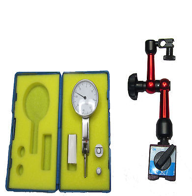 Small Magnetic Base With Imperial Dti Lever Gauge Clock Dial Test Indicator